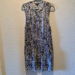 Lucky Brand navy and cream sleeveless dress, XL